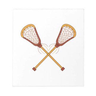 Lacrosse Sticks Notepads