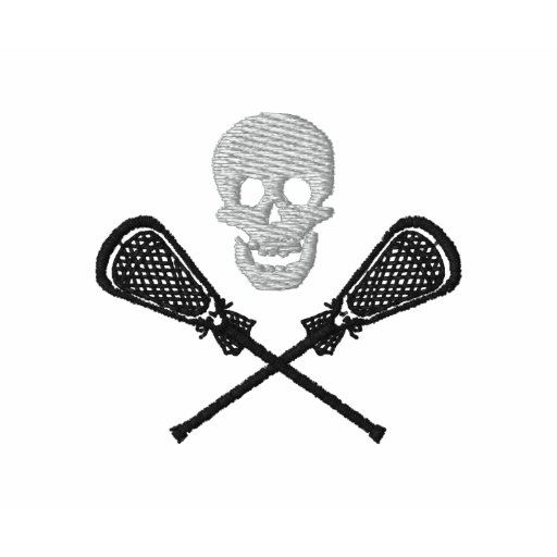 Lacrosse Sticks With Skull Embroidered Polo Shirt Polo Shirts