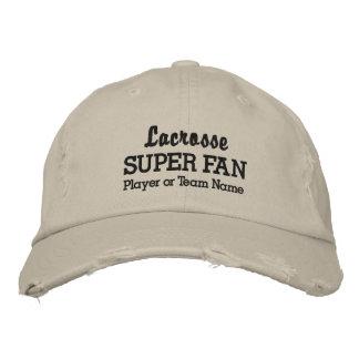 Lacrosse Super Fan Custom Sports Team Player Name Baseball Cap