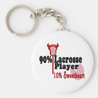 Lacrosse Sweetheart Basic Round Button Key Ring