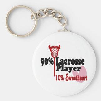 Lacrosse Sweetheart Key Ring