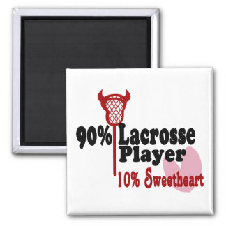 Lacrosse Sweetheart Square Magnet