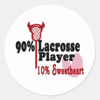 Lacrosse Sweetheart Classic Round Sticker
