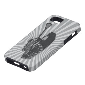 Lacrosse Tank - gray Tough iPhone 5 Case
