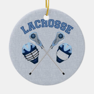 Lacrosse Tees and Gifts for Kids and Adults Round Ceramic Decoration