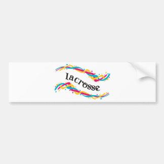 Lacrosse Twists Bumper Sticker