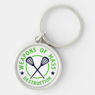 Lacrosse Weapons of Destruction Key Ring