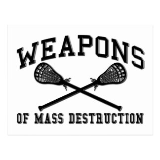 Lacrosse Weapons of Mass Destruction Post Card