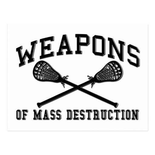 Lacrosse Weapons of Mass Destruction Post Card