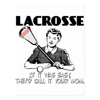 Lacrosse Your Mom Post Card