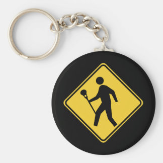 Lacrossing Basic Round Button Key Ring