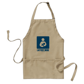 Lactivist Inside (Breastfeeding Advocacy Sign) Standard Apron