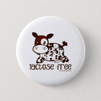 Lactose Free Brown Cow 6 Cm Round Badge
