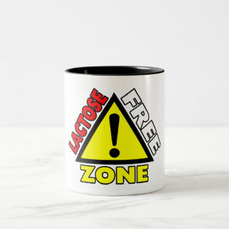 Lactose Free Zone (Dairy Free) Two-Tone Coffee Mug