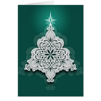 Lacy Christmas Tree Card