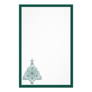Lacy Christmas Tree Stationery