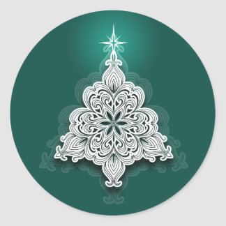 Lacy Christmas Tree Sticker