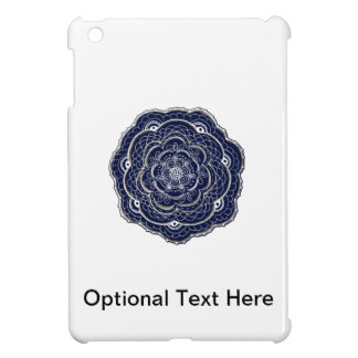 Lacy Crochet Look Doily Hand Drawn Flower Doodle iPad Mini Case