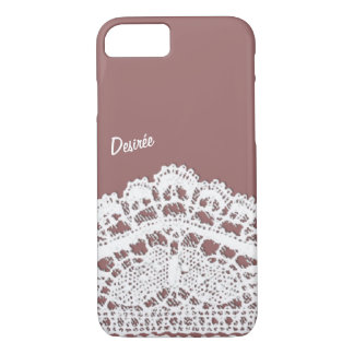 Lacy design with your Name iPhone 7 Case