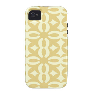 Lacy Eggshell Victorian Print iPhone 4/4S Covers