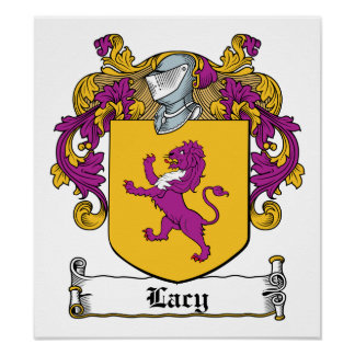 Lacy Family Crest Posters