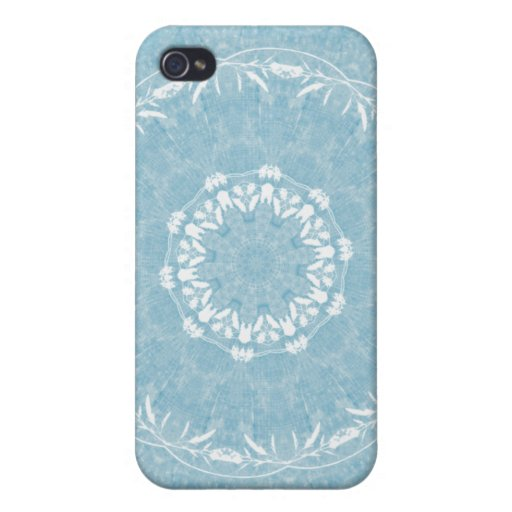 Lacy Flowers Mandala iPhone 4 Case