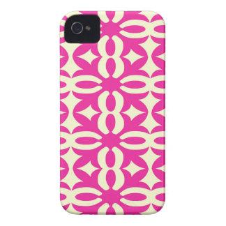 Lacy Fuchsia Victorian Print iPhone 4 Case-Mate Cases