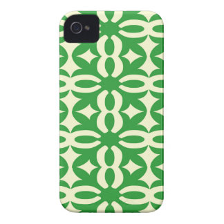Lacy Green Victorian Print iPhone 4 Covers