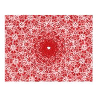 Lacy Heart Valentine Postcard