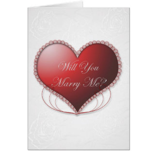 Lacy Heart Will You Marry Me Card