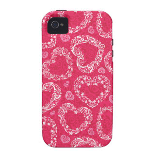 Lacy Hearts  Case-Mate Case iPhone 4 Cases