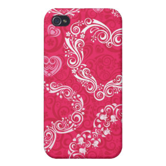 Lacy Hearts iPhone 4/4S iPhone 4 Cases