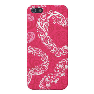Lacy Hearts iPhone 4/4S iPhone 5 Cases