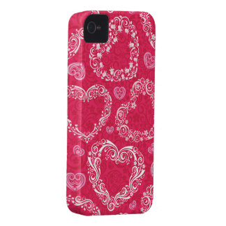 Lacy Hearts  iPhone 4S case Case-Mate iPhone 4 Cases