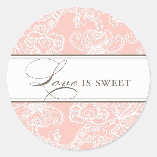 Lacy Love is Sweet Sticker