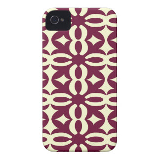 Lacy Maroon Victorian Print iPhone 4 Case