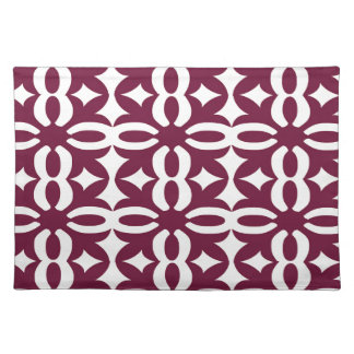 Lacy Maroon Victorian Print Placemat