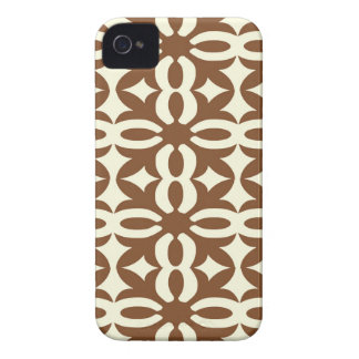 Lacy Mocha Victorian Print iPhone 4 Covers