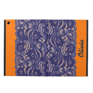 Lacy Orange & Blue Case For iPad Air