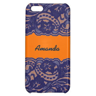 Lacy Orange & Blue Cover For iPhone 5C