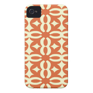Lacy Orange Victorian Print iPhone 4 Case-Mate Cases