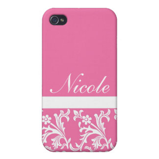 Lacy Pink Custom iPhone case iPhone 4 Cases
