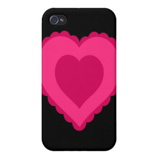 Lacy Pink Heart iPhone 4/4S Cover