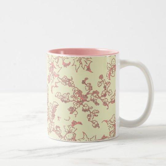 Lacy Pink on Cream Mug