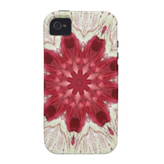 Lacy Pink Valentine Doily Kaleidoscope Case-Mate iPhone 4 Cover