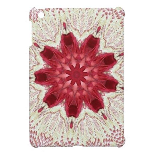Lacy Pink Valentine Doily Kaleidoscope iPad Mini Case