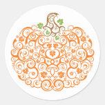 Lacy Pumpkin Decorative Sticker