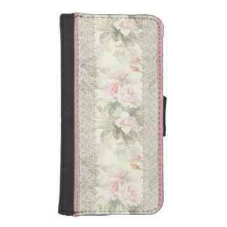 """Lacy Ribbon """"Misty Rose"""" Phone Wallet"""