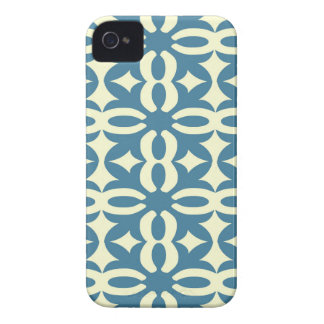 Lacy Slate Blue Victorian Print iPhone 4 Case-Mate Cases