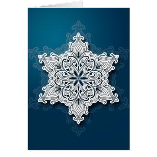 Lacy Snowflake Christmas Card